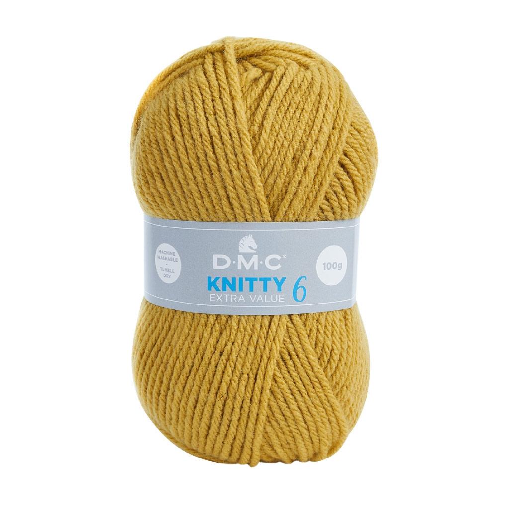206e199609daf DMC Laine Knitty 6 - Moutarde (n°670) x 137m - Perles & Co