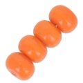 Rondes aplaties 14 mm Orange x10