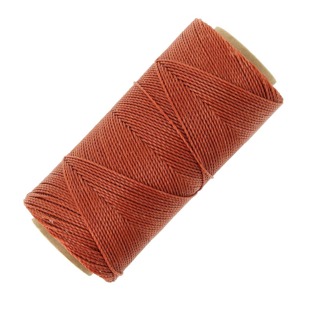 grande vente profiter de prix discount belle couleur Bobine de fil ciré Linhasita pour micro macramé 1 mm Cannelle (234) x180m