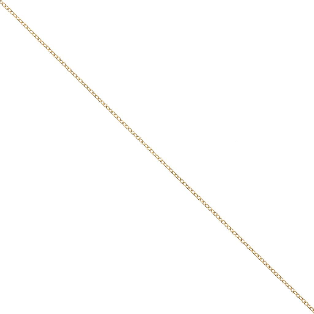 e7b4257d4ce Chaîne fine maille Forçat fil rond 1 mm en Gold filled 14 carats x 1 ...