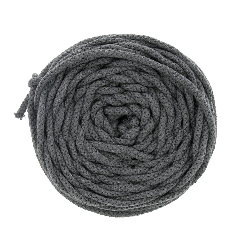 Quelle Ficelle Pour Macramé bobine de cordon en coton pour macramé cotton air 5 mm gris x 50m