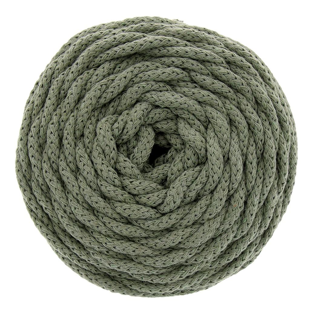 Quelle Ficelle Pour Macramé bobine de cordon en coton pour macramé cotton air 5 mm kaki x 50m