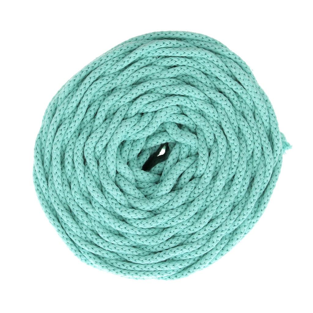 Bobine De Cordon En Coton Pour Macramé Cotton Air 5 Mm Mint X 50m