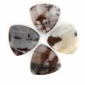 Cabochon triangle 18 mm Jaspe Poppy Gris