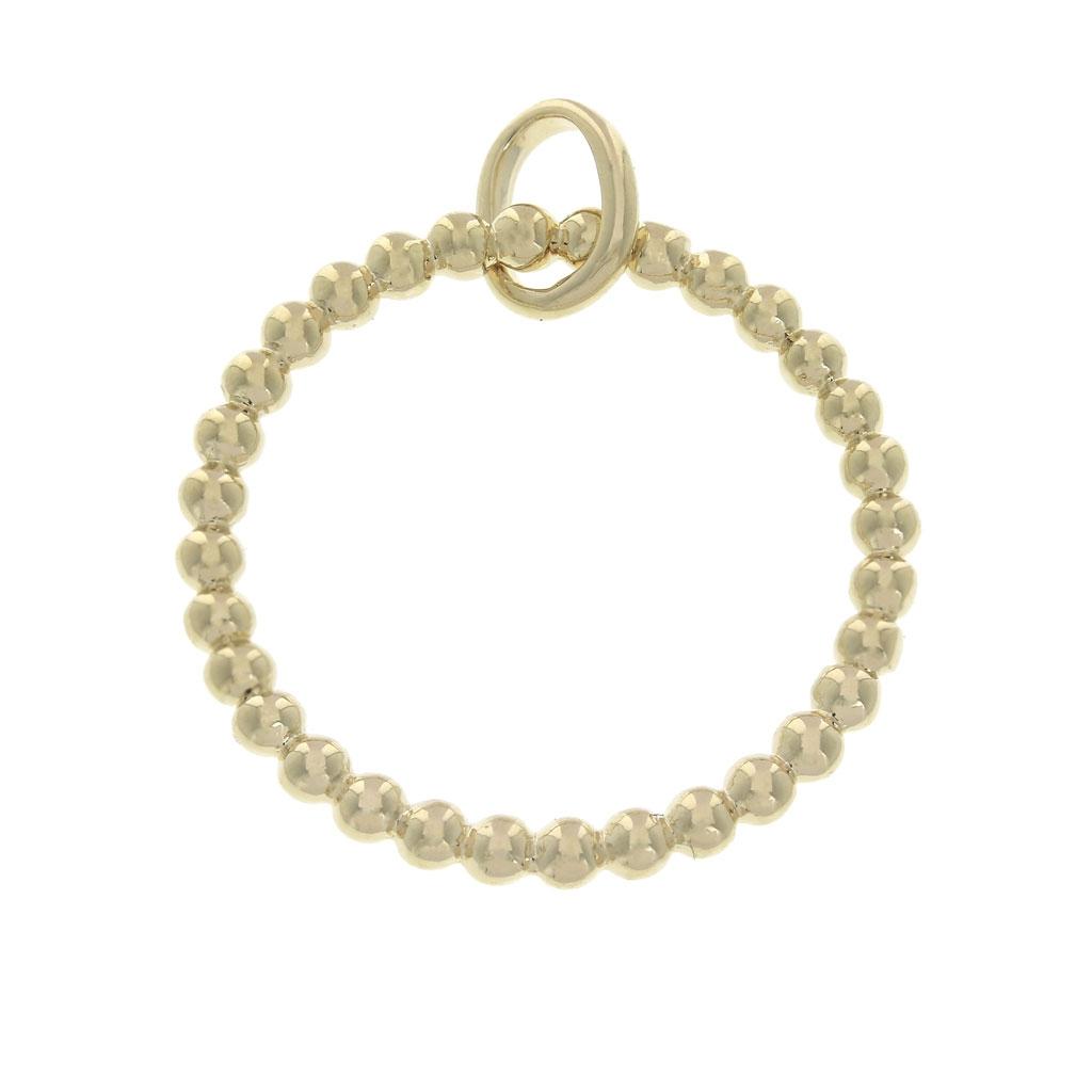 rechercher le meilleur Super remise choisissez le dégagement Pendentif anneau boule 20 mm Plaqué Or 3 microns pour la création de bijoux  x1