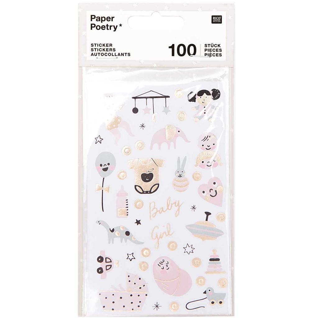 invitations enveloppes Baby Shower Girl 10,8 cm X 16 cm autocollant