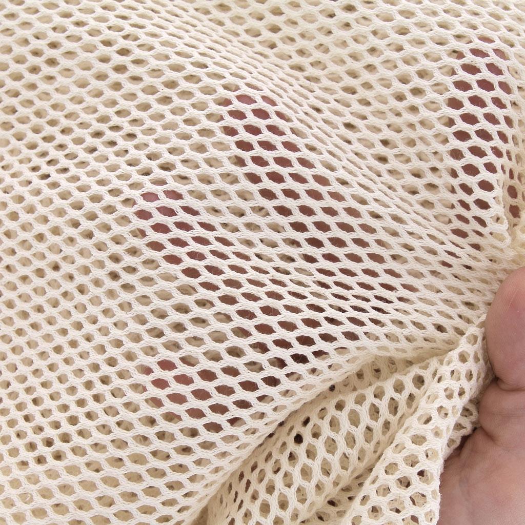 9e24ca6c8a ... Tissu filet en coton bio pour sac à vrac zéro déchet - Ecru x10cm