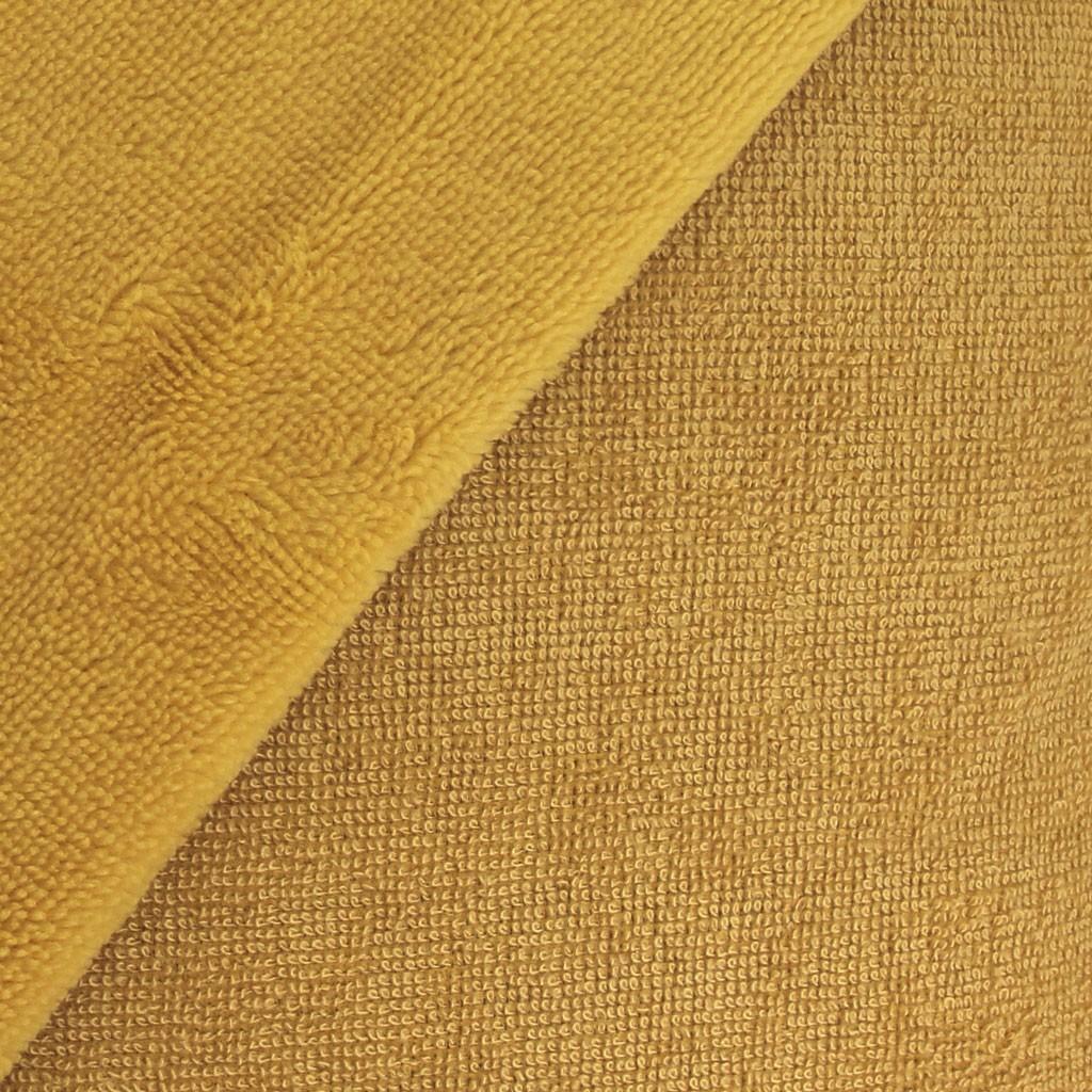 Couture Tapis De Sol Bébé tissu micro éponge bambou oeko-tex pour bavoir, lingette,serviette  -moutarde x10cm