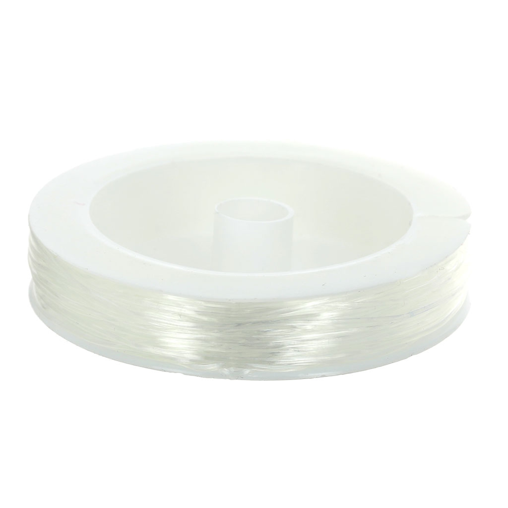 Fil élastique En Silicone 080 Mm Transparent X 25 M Perles Co