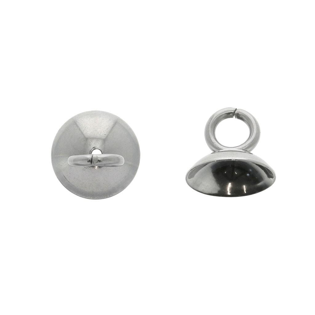 bonne qualité complet dans les spécifications meilleur fournisseur Coupelle avec anneau ouvert pour résine et pâte polymère 8 mm - Acier Inox  x10