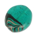 Olive plate 22x18 mm Emerald x1