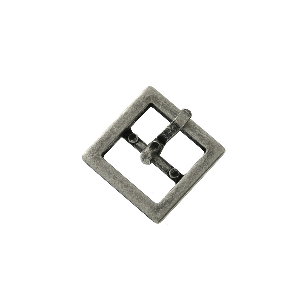 nouvelle collection Baskets 2018 ramassé Boucle ceinture à griffe pour ceintures DIY personnalisées 15mm carré arg  vieil x1