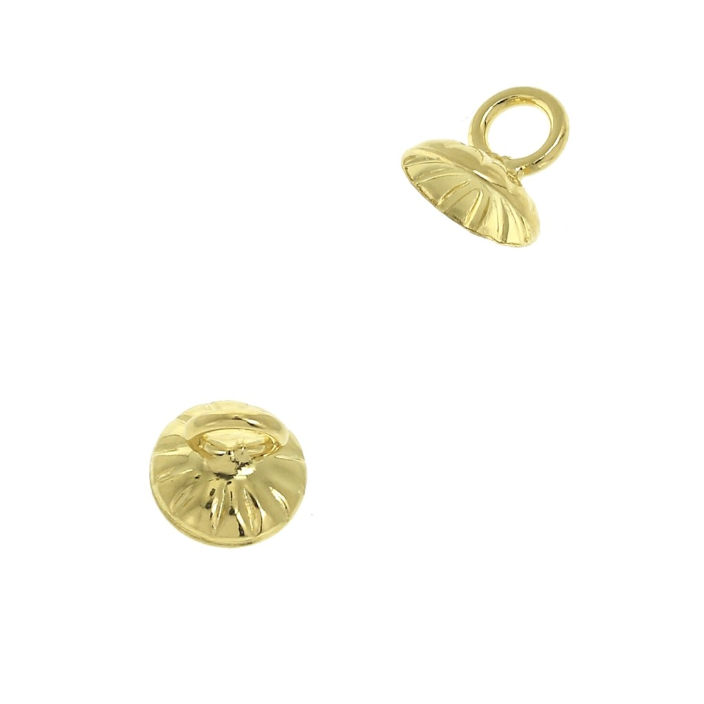 2 pendentifs fleur  argenté ancien coeur doré 24 x 20 mm