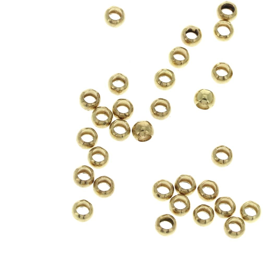design de qualité 20d9d 806a0 Perles à écraser en laiton 2,5 mm pour la création de bijoux fantaisie -  Doré x100