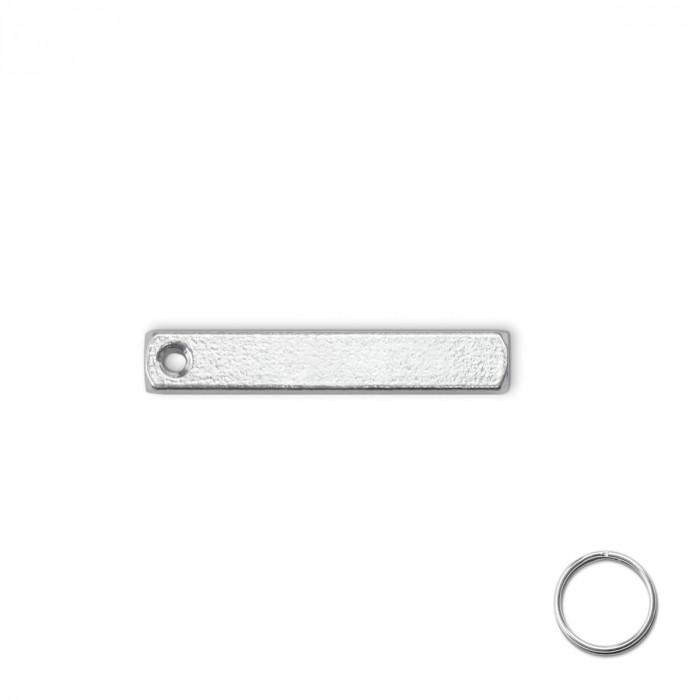 Porte-cl/és en cuir m/édaillon en plastique Insert 3D Image