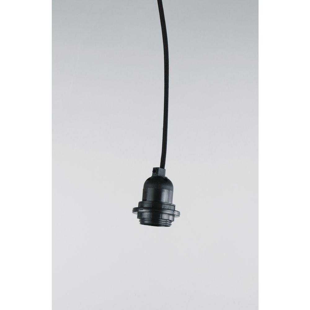 Cordon Electrique Pour Lampe douille pour ampoule e27 avec fil électrique et interrupteur pour lampe -  noir x1