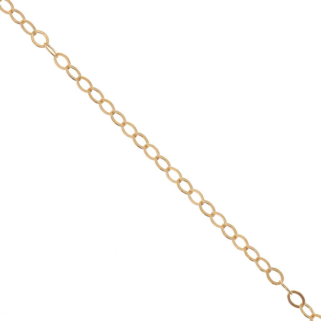 eb4a8c98a5f Chaîne maille Forçat Miroir 1.5 mm en Gold filled 14 carats x 50cm ...