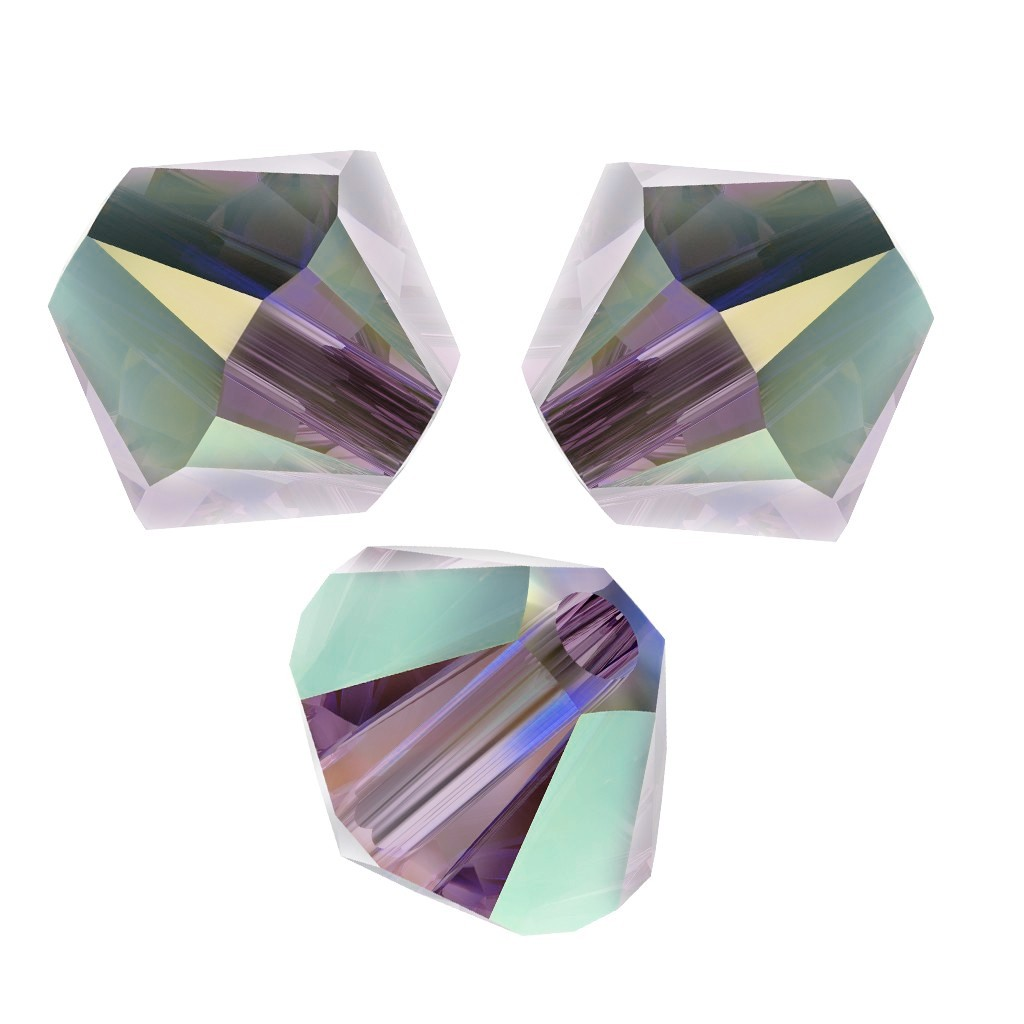 Toupies en cristal Swarovski 4 mm Iris AB 2X x50
