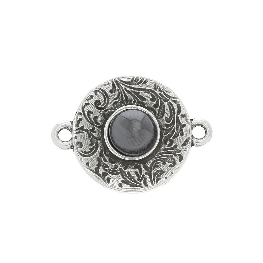 20 Perles Intercalaires Fleur Flower 6mm en métal argenté Création