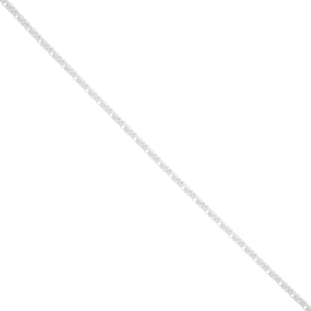 """31.5/""""L fine S925 Pur Argent 4 mm Lisse Perle Lien Homme Lucky Chaîne Collier 20 G"""