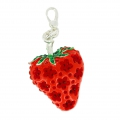 Fraise 43x30 mm strass Rouge x1