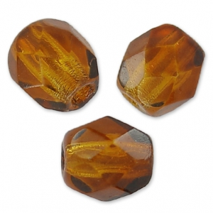 Facettes 4 mm Smoked Topaz  x50