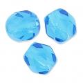 Facettes 4 mm Capri Blue  x50