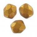 Facettes 3 mm Golden Mat x50