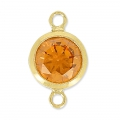 Intercalaires 2 anneaux 11x6 mm Topaz/Gold filled 14 carats x1