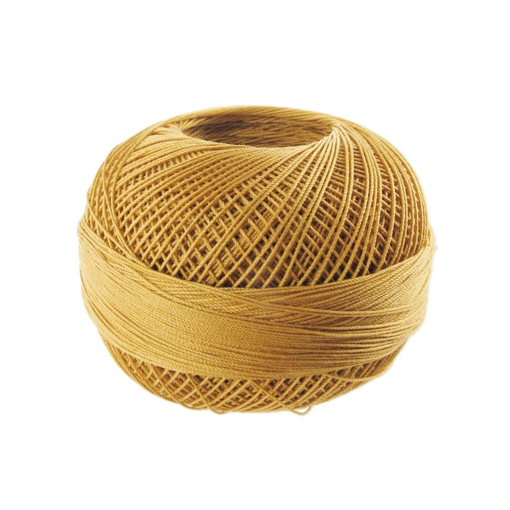 fil de coton lizbeth taille 20 harvest gold n 699 x192m. Black Bedroom Furniture Sets. Home Design Ideas