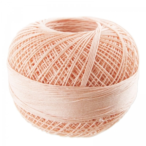 Fil de coton Lizbeth taille 10 Light Peach n°630 x111m