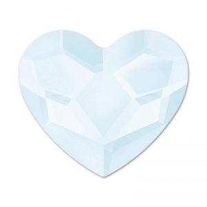 Strass Hotfix Coeur Swarovski 2808 6 mm Crystal Powder Blue x1