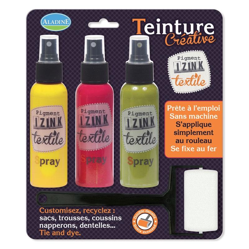 kit tie dye aladine pigment izink jaune rouge vert x1. Black Bedroom Furniture Sets. Home Design Ideas