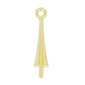 Attache pendentif Trumpet pour Pure Drop Swarovski 20 mm doré x1