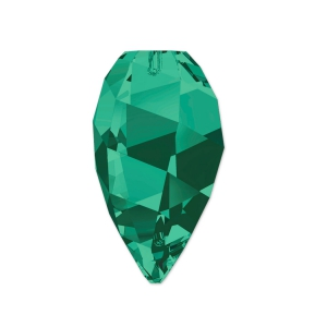 Twisted Drop Swarovski 6540 12mm Emerald x1