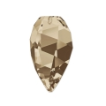 Twisted Drop Swarovski 6540 12mm Smoky Quartz x1