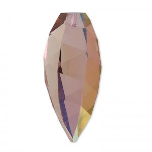Twisted Drop Swarovski 6540 20mm Crystal Lilac Shadow x1