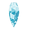 Twisted Drop Swarovski 6540 30mm Aquamarine x1