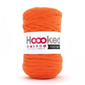 Fil trapilho - Hoooked Ribbon XL DMC - Pelote Jersey Orange x 120m