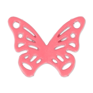 Intercalaire papillon teinté 2 trous 20x15 mm Framboise x1