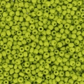 Mini-rocailles 1,5 mm Olivine Opaque x10g