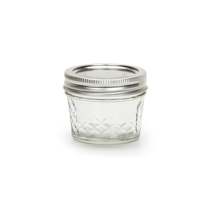 bocal en verre mason jar ball pot mason 4 oz 120ml motif diamant perles co. Black Bedroom Furniture Sets. Home Design Ideas