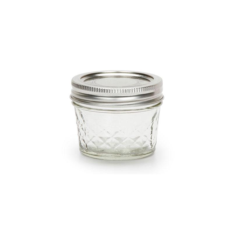 bocal mason jar ball 4 oz motif diamant x1 perles co. Black Bedroom Furniture Sets. Home Design Ideas