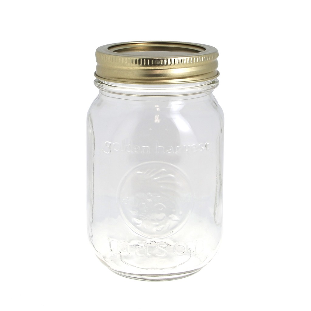 bocal en verre mason jar ball pot mason 16 oz 480 ml x1 perles co. Black Bedroom Furniture Sets. Home Design Ideas