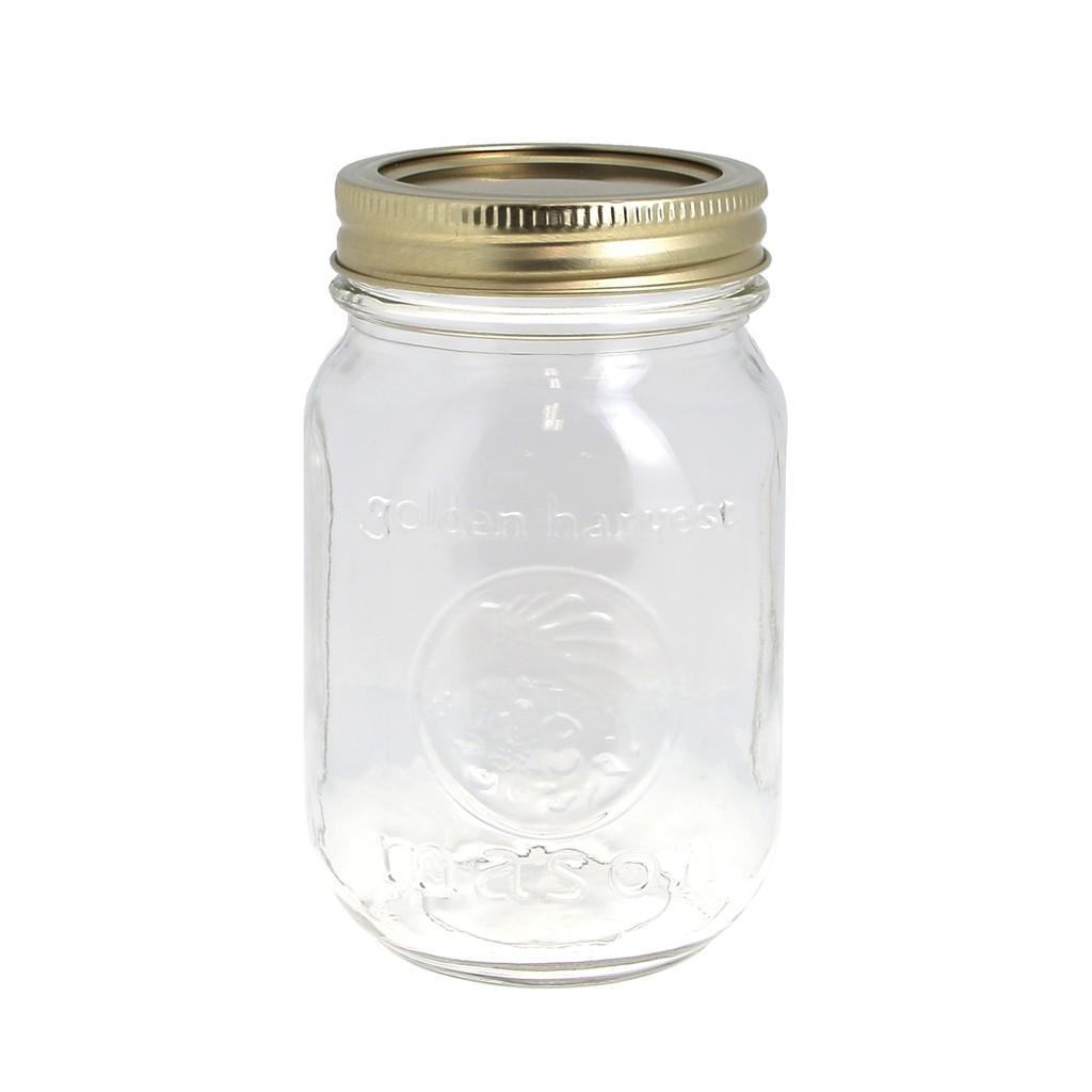 bocal mason jar ball 16 oz x1 perles co