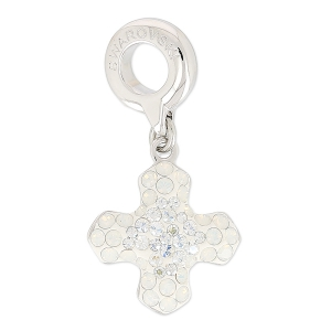 Pavé Charms Swarovski 86522 14 mm White Opal/Crystal Moonlight x1