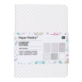 Assortiment Paper Poetry bloc notes 105x140 mm Romantic Flowers x3