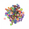 Assortiment de millefiori Murano 5/10 mm Transparent x 50g