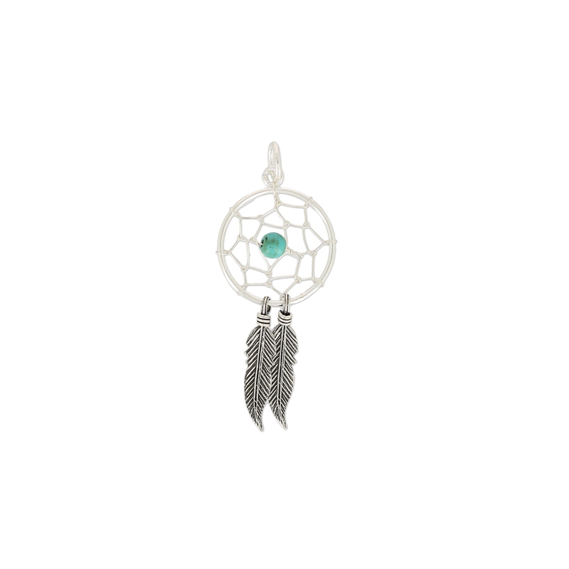 pendentif attrape r ves 19 mm argent 925 turquoise x1 perles co. Black Bedroom Furniture Sets. Home Design Ideas
