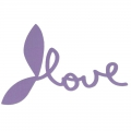 Motif Thermocollant Love 13 cm Violet  x1